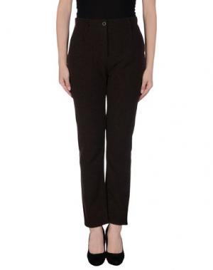 Повседневные брюки NOVEMB3R. Цвет: темно-коричневый