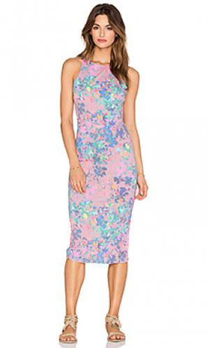 Макси платье без рукавов SAM&LAVI. Цвет: розовый