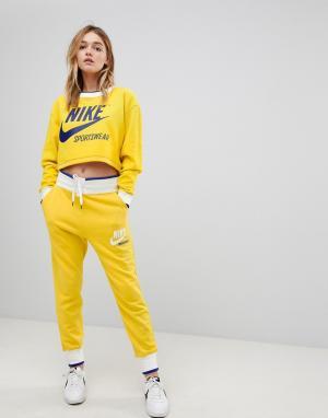 Nike Желтые спортивные штаны эксклюзивно для ASOS Archive. Цвет: желтый
