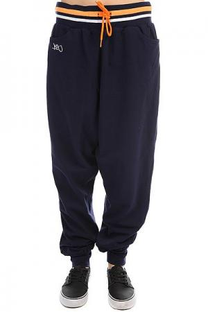 Штаны спортивные женские  Collared Sweatpants Navy K1X. Цвет: синий