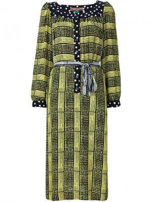 Платье-туника с комбинированным принтом Duro Olowu. Цвет: чёрный