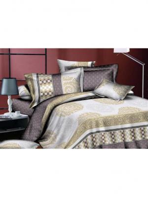 Комплект постельного белья 2сп, поплин BegAl. Цвет: серый