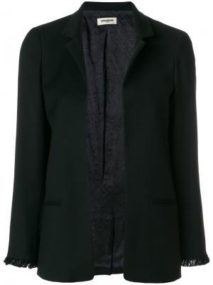 Стилизованный пиджак Zadig & Voltaire. Цвет: чёрный