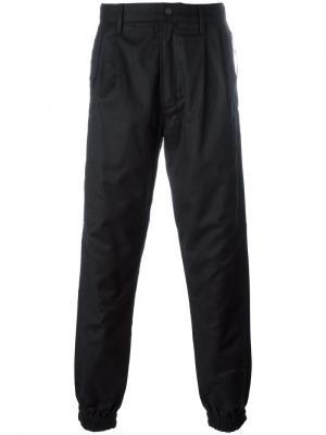 Зауженные брюки Maharishi. Цвет: чёрный