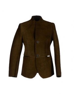 Куртка COMPAGNIA DELLE PELLI. Цвет: хаки
