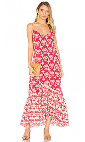 Макси платье kali elma Vix Swimwear. Цвет: красный