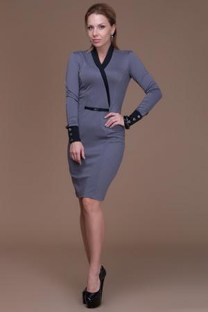 Платье Gloss. Цвет: серый, черный