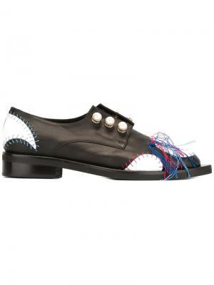 Декорированные туфли на шнуровке Coliac. Цвет: чёрный