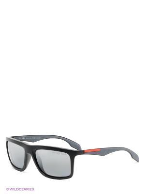 Очки солнцезащитные Prada Linea Rossa. Цвет: черный, серый меланж
