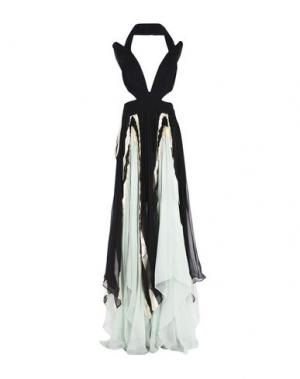 Длинное платье MARIA LUCIA HOHAN. Цвет: черный