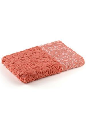 Полотенце для ванной 70х140 см Lace coral VERRAN. Цвет: красный