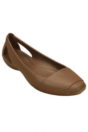Балетки Crocs. Цвет: бронзовый