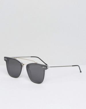 Spitfire Солнцезащитные очки с двойной переносицей и зеркальными плоскими стекл. Цвет: черный