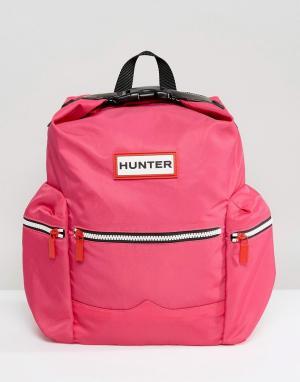Hunter Розовый нейлоновый мини-рюкзак Original. Цвет: розовый