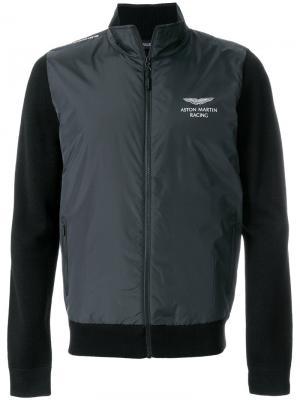 Куртка со стегаными панелями Hackett. Цвет: чёрный