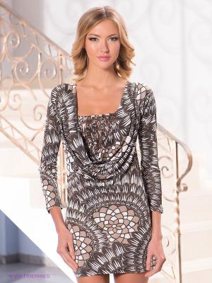 Платье Levall. Цвет: коричневый