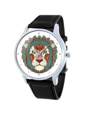 Дизайнерские часы Nature Leo Tina Bolotina. Цвет: бирюзовый, темно-коричневый