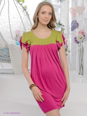 Платье UNIOSTAR. Цвет: фуксия, салатовый