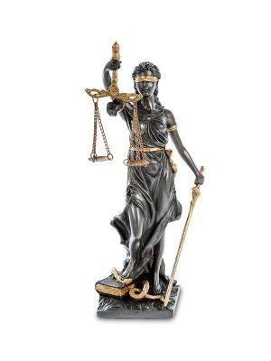 Статуэтка Фемида - богиня правосудия Veronese. Цвет: серебристый, золотистый