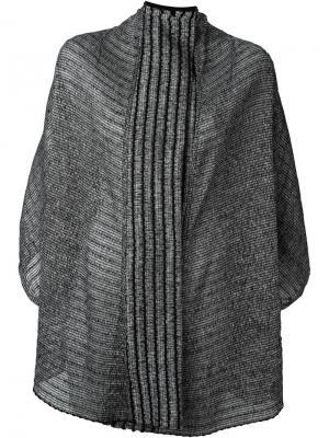 Двухсторонняя куртка в полоску Lost & Found Ria Dunn. Цвет: чёрный