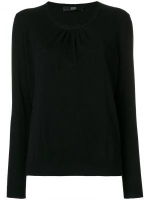 Блузка со складками Steffen Schraut. Цвет: чёрный