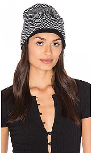 Лыжная шапочка с рисунком в елочку Plush. Цвет: black & white