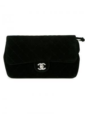 Бархатный рюкзак Chanel Vintage. Цвет: чёрный