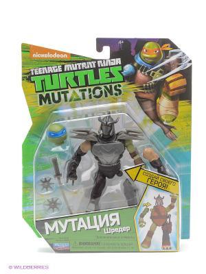 Фигурка Черепашки-ниндзя 12см серия Mutation Шредер Playmates toys. Цвет: коричневый
