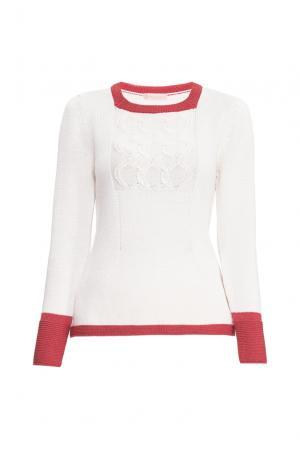 Джемпер из шерсти с шелком 154533 Sweet Sweaters. Цвет: белый