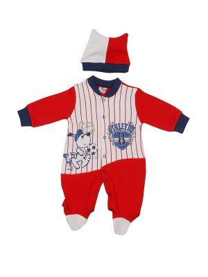 Комплект одежды M-BABY. Цвет: красный