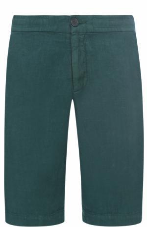 Льняные бермуды с карманами Z Zegna. Цвет: зеленый