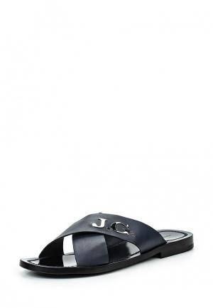 Шлепанцы John Galliano. Цвет: синий