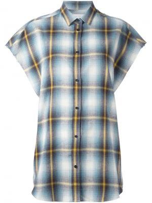 Рубашка с короткими рукавами  в клетку Iro. Цвет: многоцветный