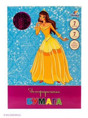 Принцесса Лана (ЦБГ7789) 7л.7ц. НАБОРЫ ЦВЕТНОЙ БУМАГИ Канц-Эксмо. Цвет: сливовый, малиновый