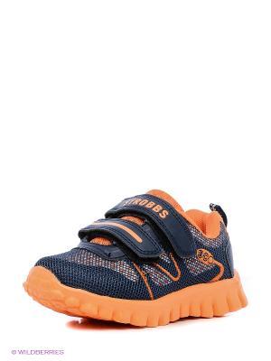 Кроссовки STROBBS. Цвет: синий, оранжевый