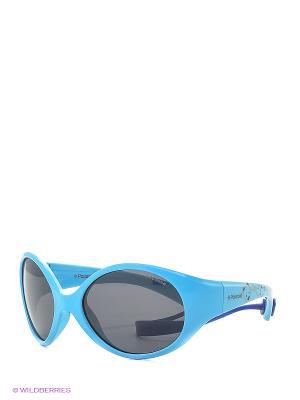 Солнцезащитные очки Polaroid. Цвет: голубой, серый