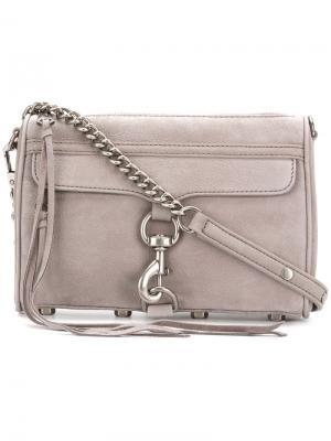 Мини-сумка через плечо MAC Rebecca Minkoff. Цвет: серый