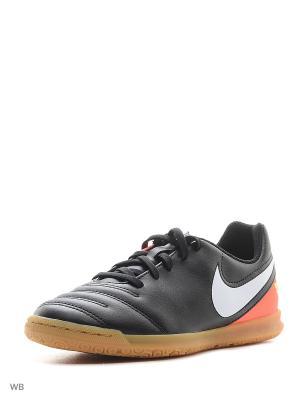 Кроссовки для зала JR TIEMPO RIO III IC Nike. Цвет: светло-оранжевый, черный