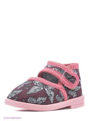 Туфли Римал. Цвет: бордовый, розовый