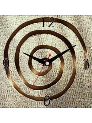 Картина стеновая с часовым механизмом ДСТ. Цвет: коричневый