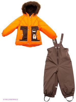 Комплект Kerry. Цвет: оранжевый, серо-коричневый
