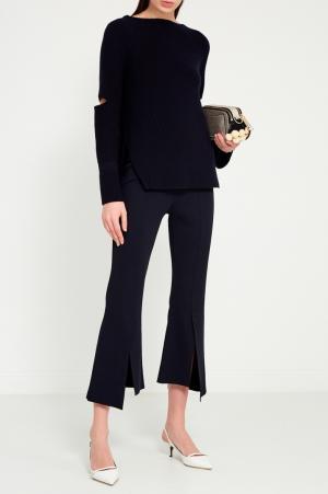 Синие расклешенные брюки Stella McCartney. Цвет: черный