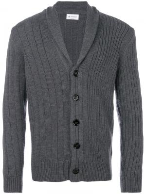 Shawl collar cardigan Dondup. Цвет: серый