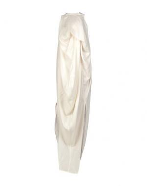 Длинное платье RICK OWENS. Цвет: слоновая кость