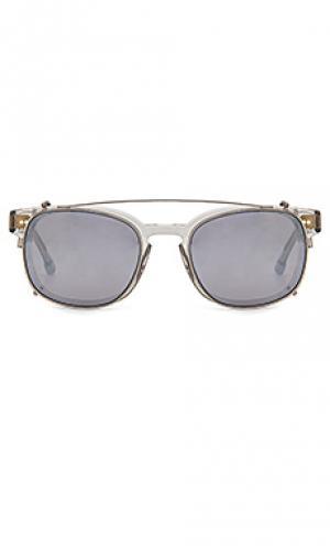 Солнцезащитные очки monroe Steven Alan. Цвет: металлический серебряный