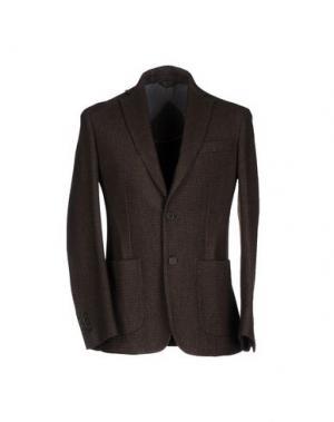 Пиджак HERMAN & SONS. Цвет: темно-коричневый