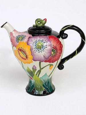 Заварочный чайник Blue Sky. Цвет: светло-зеленый, черный