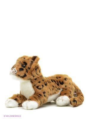 Детеныш ягуара, 26 см Hansa. Цвет: бежевый, черный