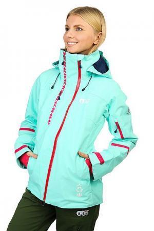 Куртка утепленная женская  Ticket Mint Green Picture Organic. Цвет: голубой