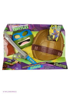 Полный набор боевого снаряжения Черепашки-ниндзя Леонардо Playmates toys. Цвет: зеленый, коричневый, красный